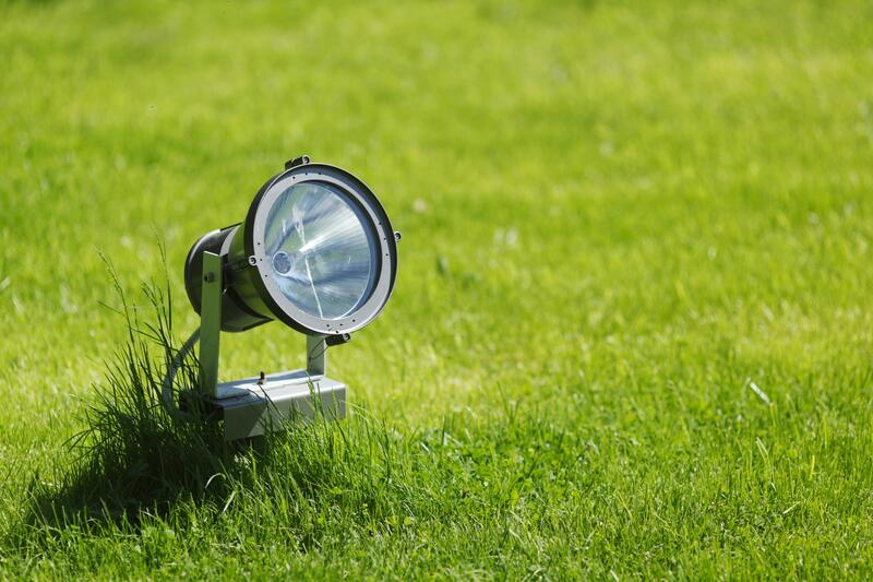 Landscape Light in Front Yard of home in Wayne County