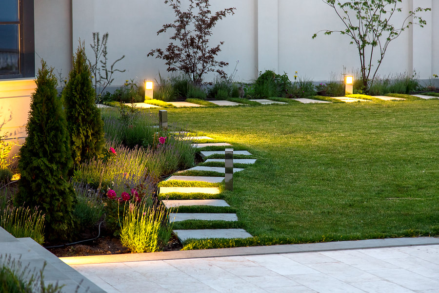 Front Yard Path LED Lighting in Grand Rapids, Michigan